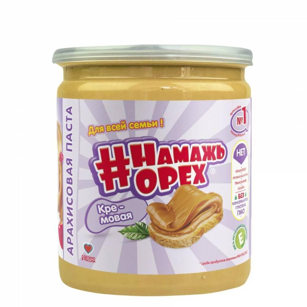 Арахисовая паста Намажь Орех Традиционная Кремовая, 450 гр