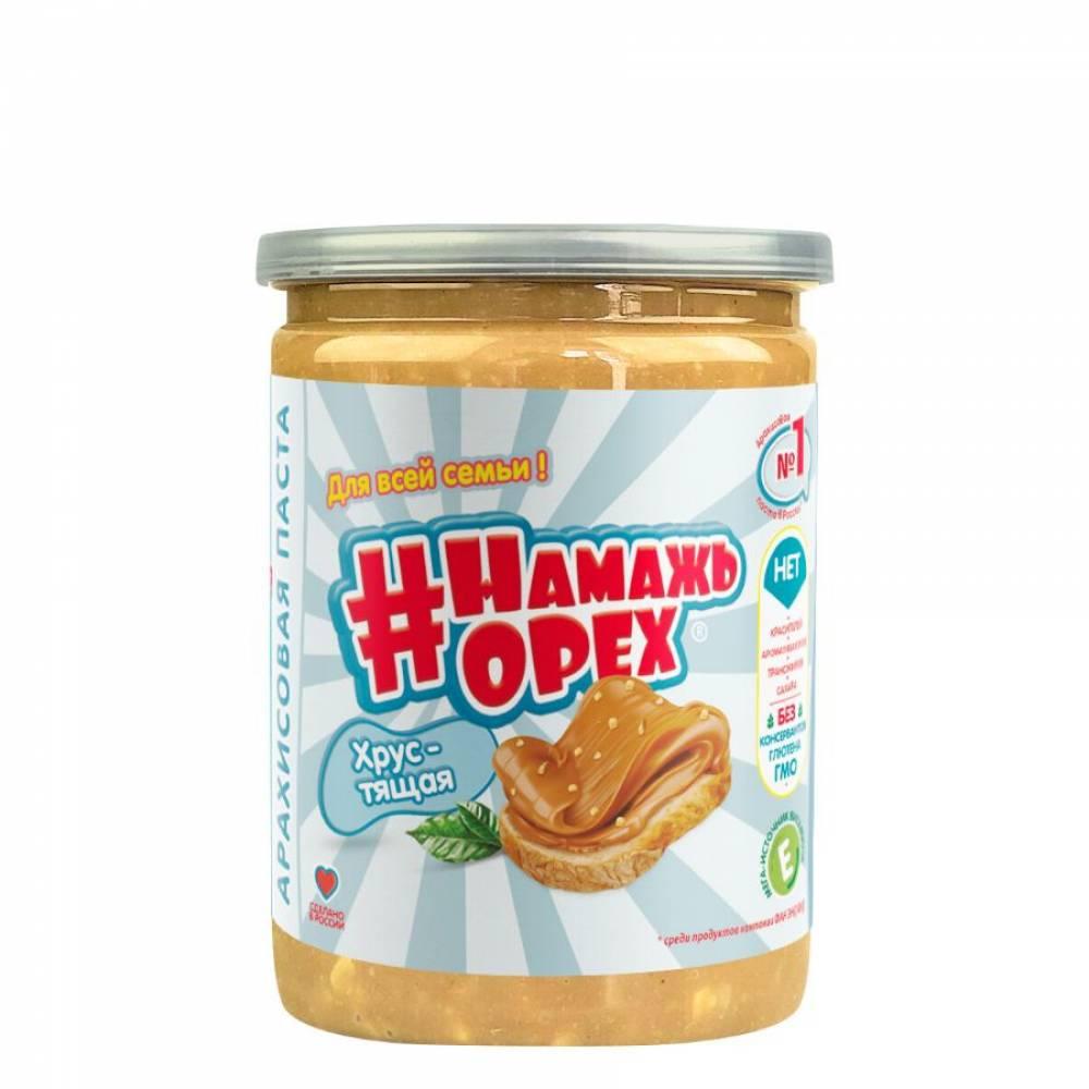Арахисовая паста Намажь Орех Традиционная Хрустящая, 230 гр
