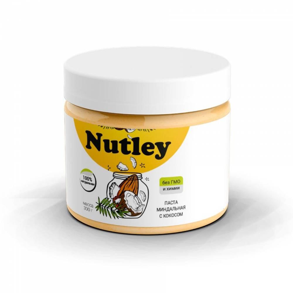 Кокосовая паста с миндалем Nutley, 300 гр