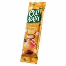 Фруктовый батончик ОлЛайт орехи и абрикос, 30 гр