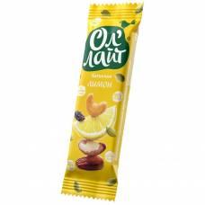 Фруктовый батончик ОлЛайт орехи и лимон, 30 гр