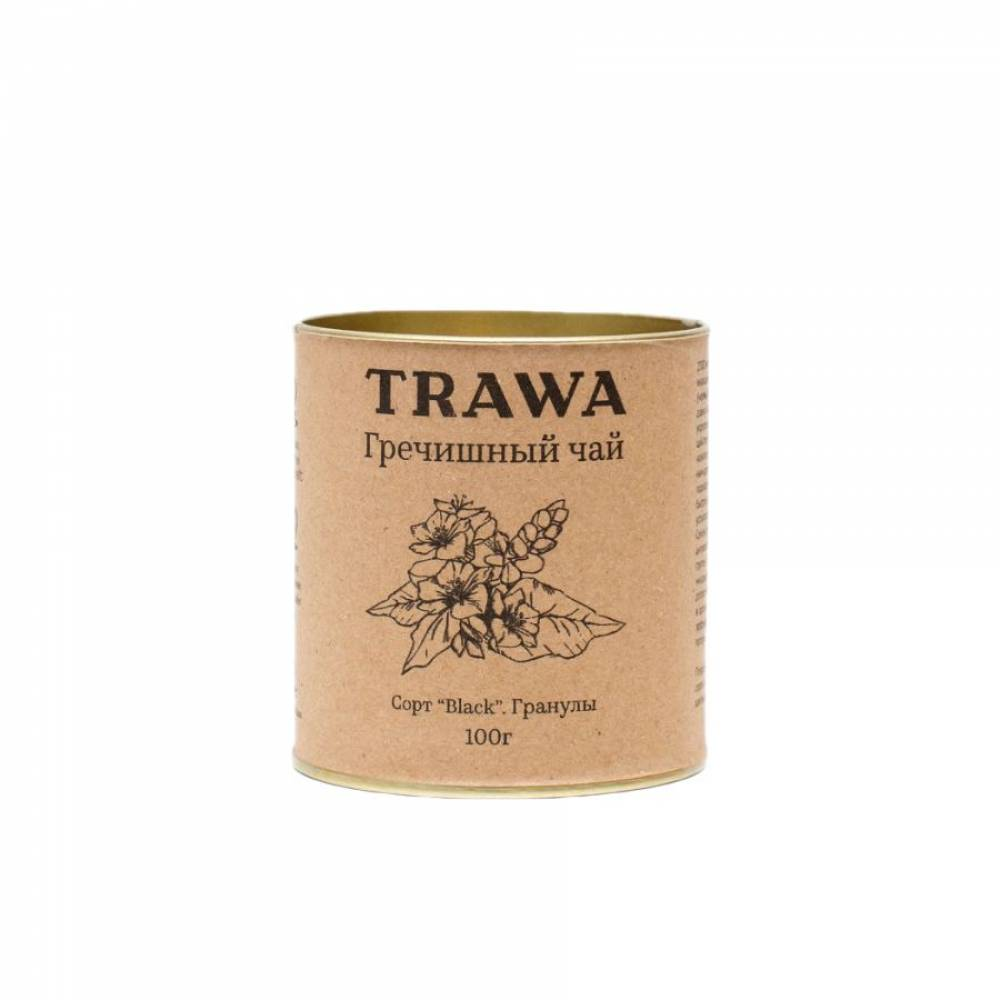 Гречишный чай TRAWA сорт Black, гранулы, 100 гр