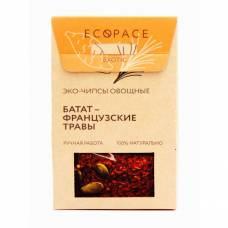 Овощные чипсы с бататом и французскими травами EcoSpace, 100% ручная работа, 40 гр