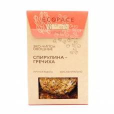 Овощные чипсы со спирулиной и гречихой EcoSpace, 100% ручная работа, 40 гр