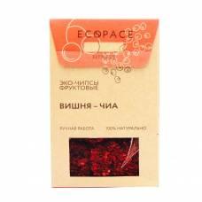 Фруктовые чипсы с вишней и семенами чиа EcoSpace, 100% ручная работа, 40 гр