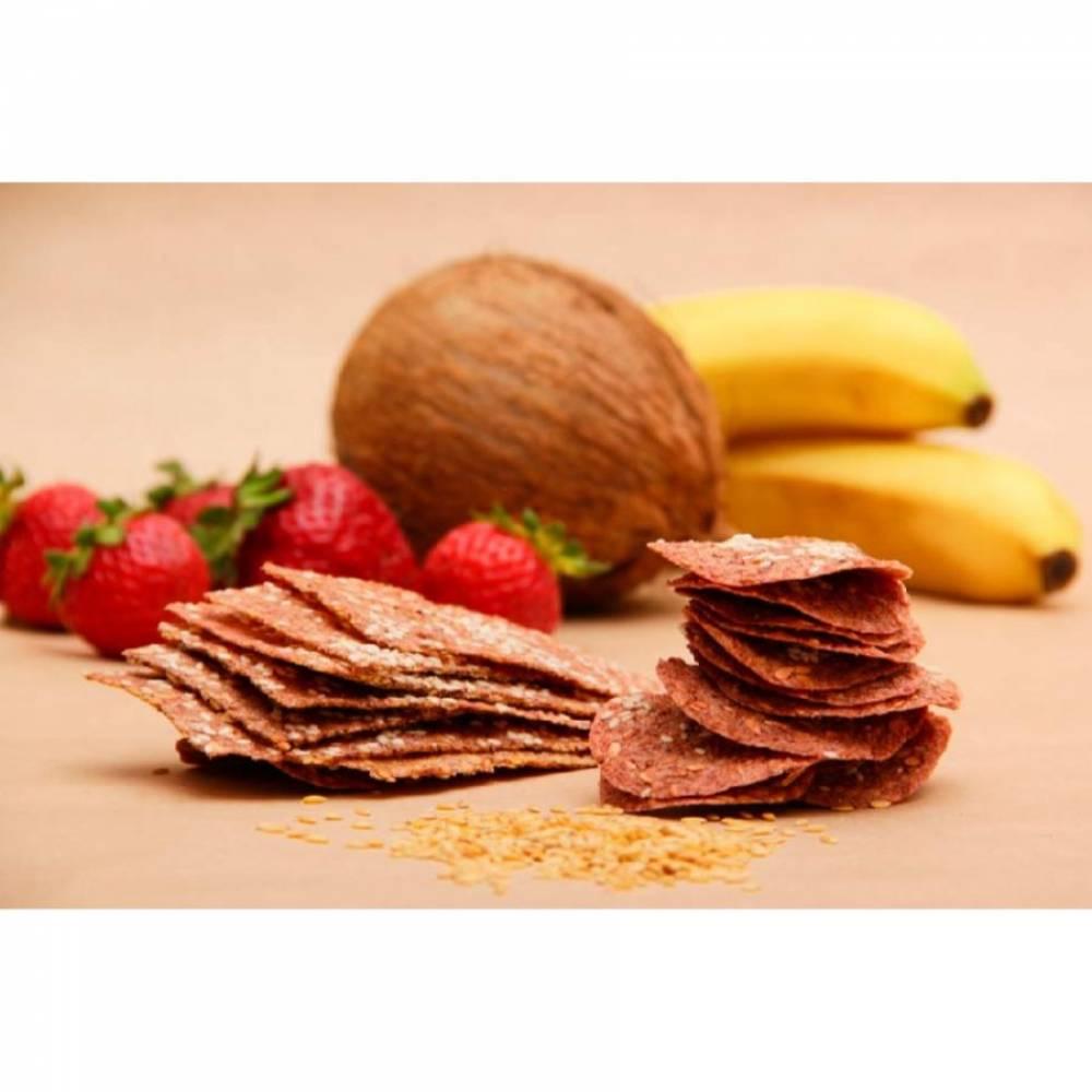 Фруктовые чипсы с клубникой и бананом EcoSpace, 100% ручная работа, 40 гр