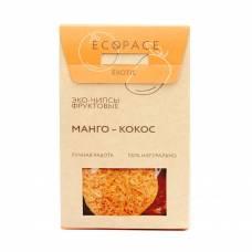 Фруктовые чипсы с манго и кокосом EcoSpace, 100% ручная работа, 40 гр