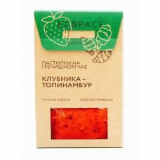 Фруктовая пастила на гречишном чае с клубникой и топинамбуром EcoSpace, 100% ручная работа, 40 гр