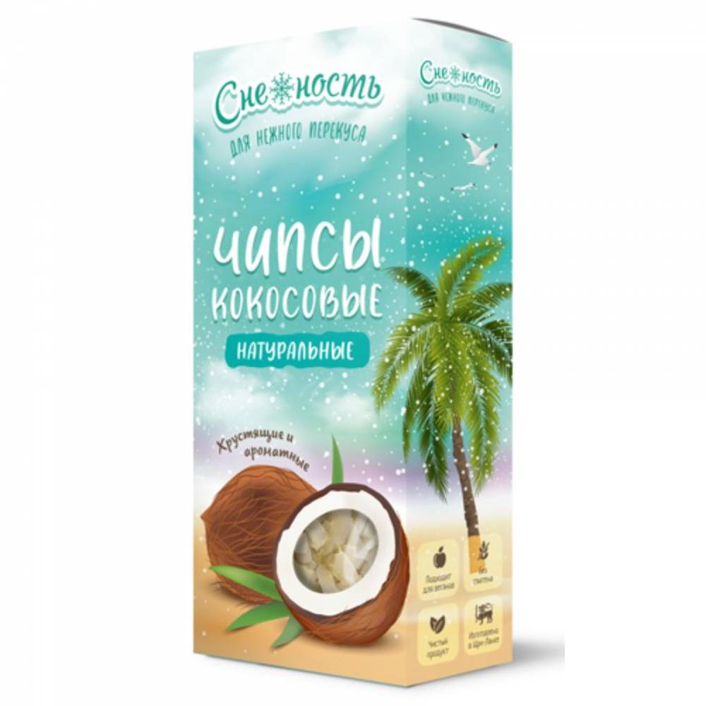 Кокосовые чипсы натуральные Снежность, 75 гр