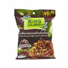 Кокосовые чипсы KING ISLAND с шоколадом, 40 гр