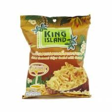 Кокосовые чипсы KING ISLAND с карамелью, 40 гр