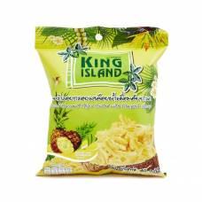 Кокосовые чипсы KING ISLAND с ананасом, 40 гр