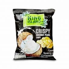 Кокосовые чипсы из сердцевины пророщенного кокоса KING ISLAND, 40 гр