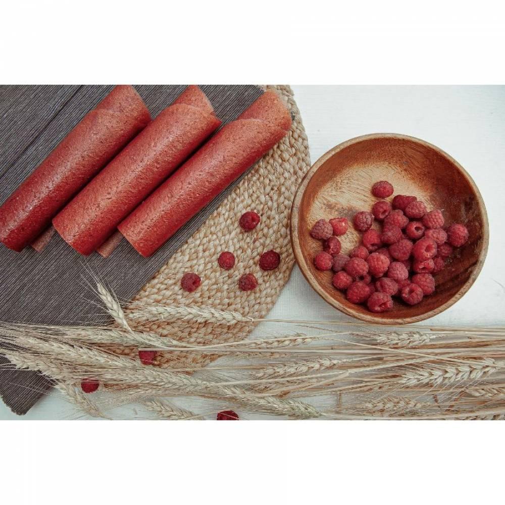 Фруктовая пастила малина и банан домашняя, 30 гр