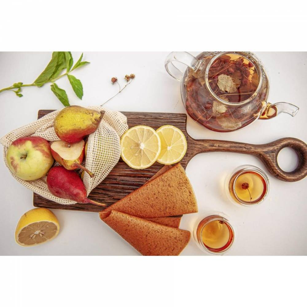 Фруктовая пастила груша, яблоко, лимон домашняя, 15 гр