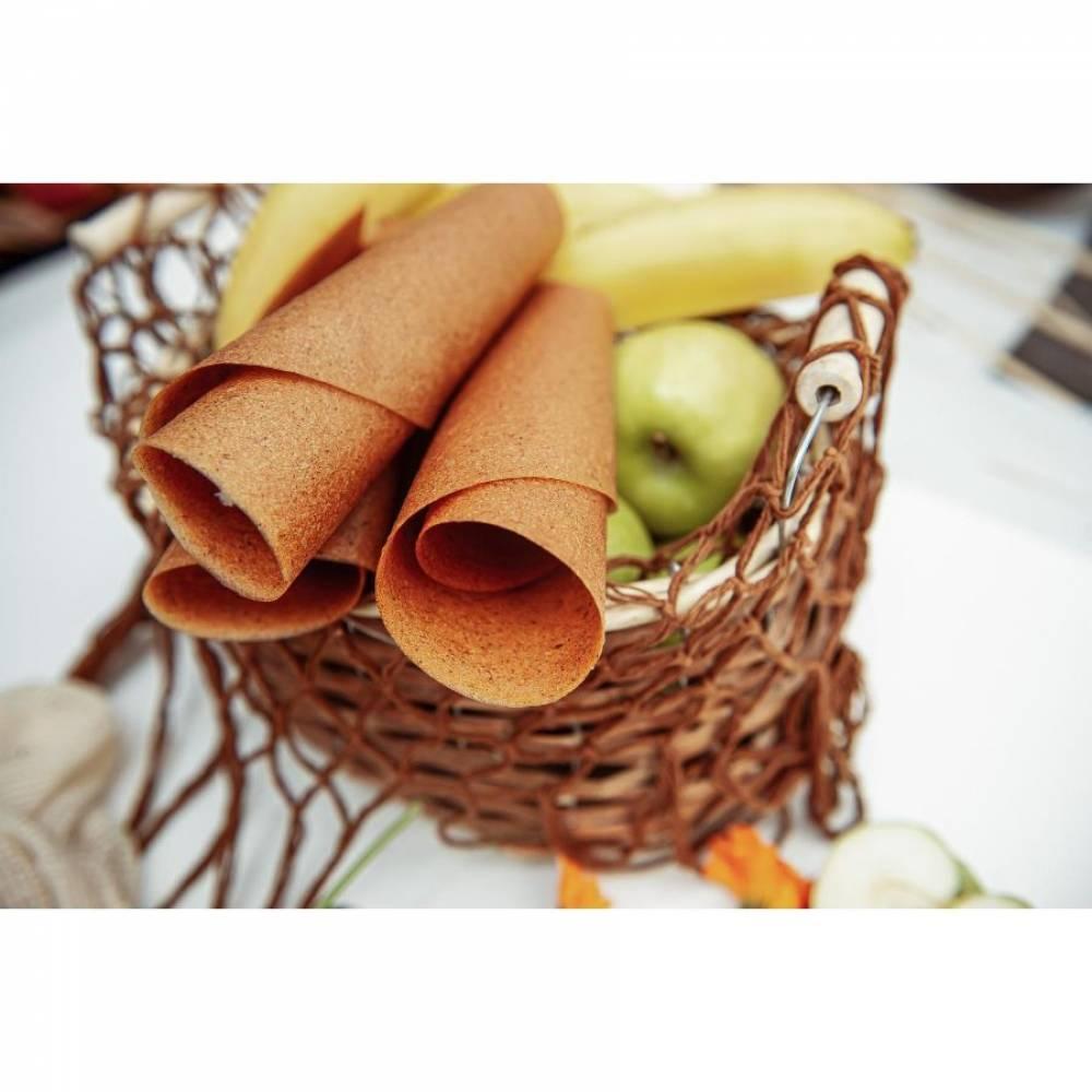 Фруктовая пастила яблоко с корицей домашняя, 15 гр