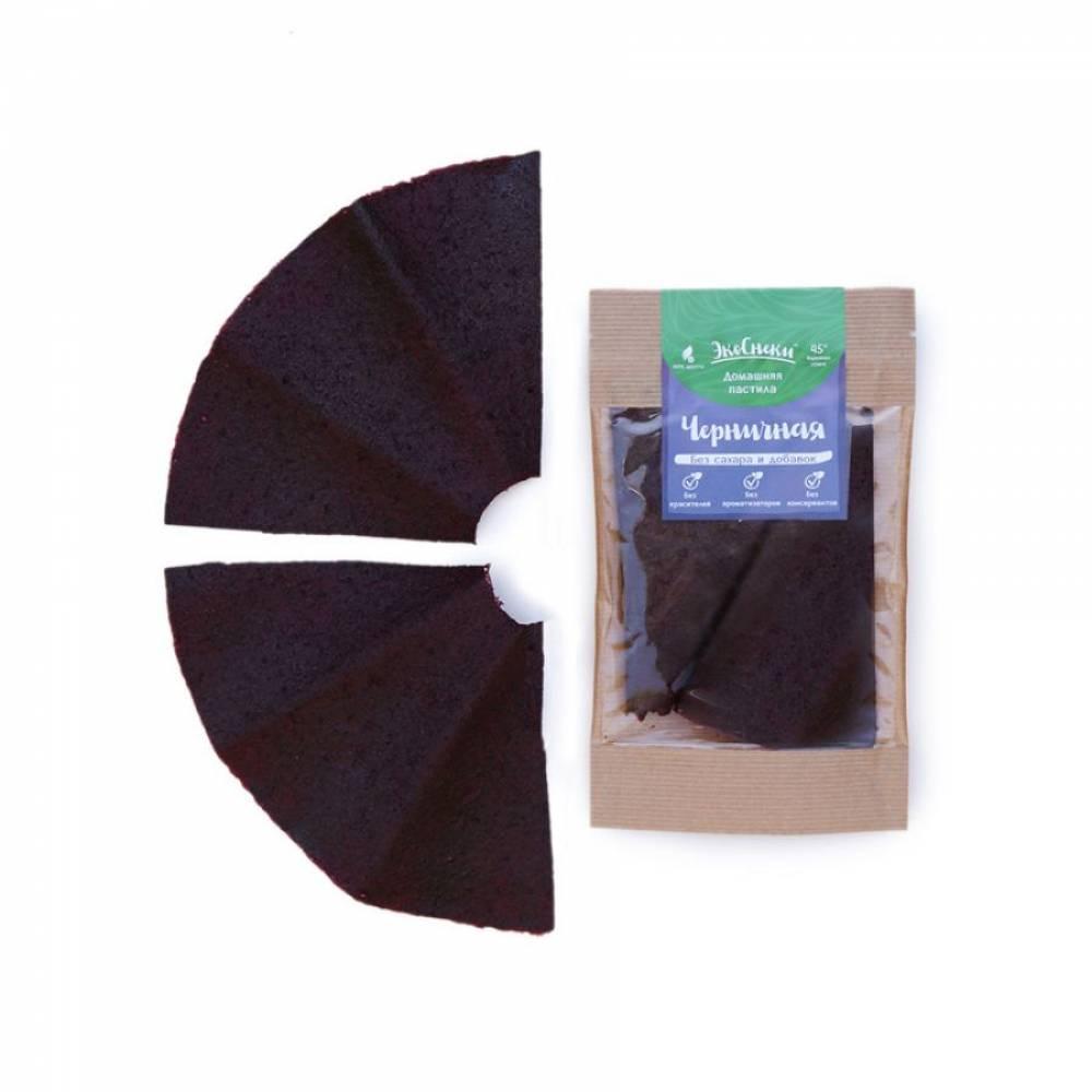 Фруктовая пастила черничная домашняя, 35 гр