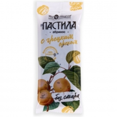 Фруктовая пастила из абрикоса с грецким орехом без сахара, ГОСТ, Нат Виноград, 50 гр