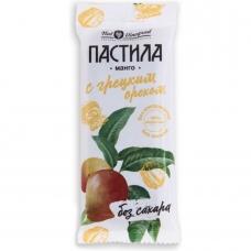 Фруктовая пастила из манго с грецким орехом без сахара, ГОСТ, Нат Виноград, 50 гр