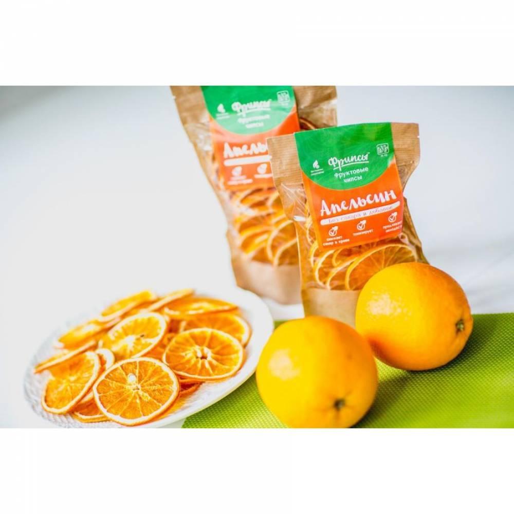 Сушеные фрукты апельсин натуральные, 70 гр