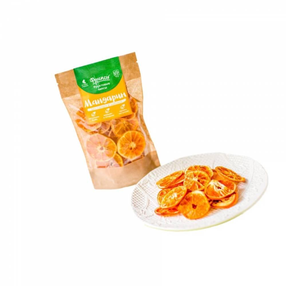 Сушеные фрукты мандарин натуральные, 70 гр