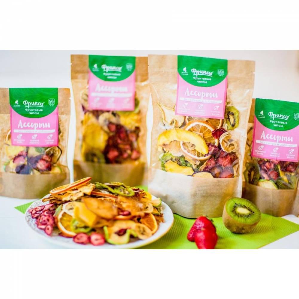 Сушеные фрукты ассорти 9 вкусов натуральные, 50 гр
