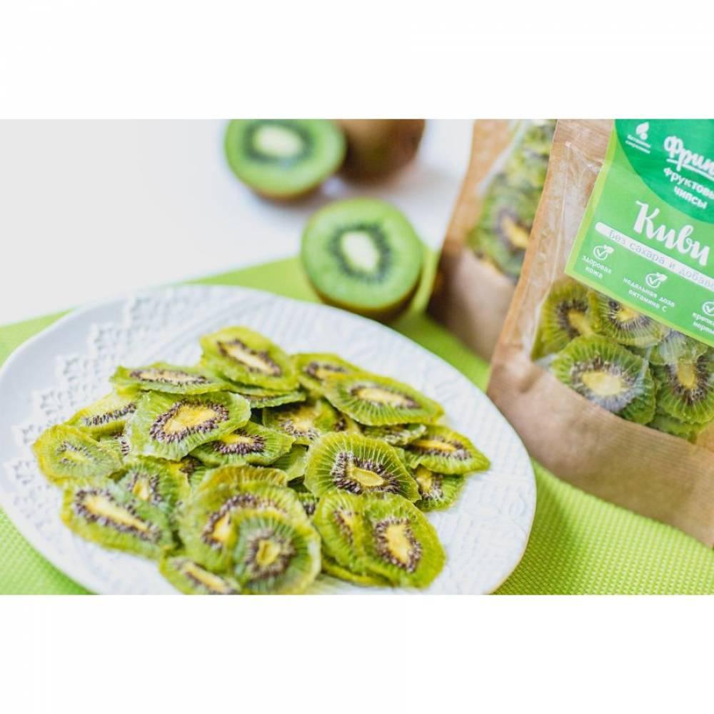 Сушеные фрукты киви натуральные, 80 гр