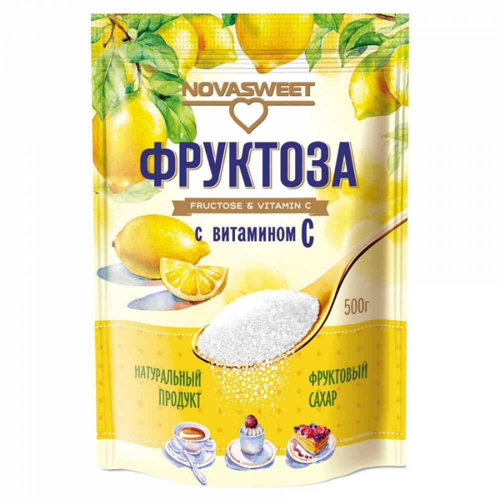 Фруктоза НОВАСВИТ с витамином С, 500 гр