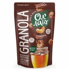 Гранола ОлЛайт шоколадная с орехами, 60 гр