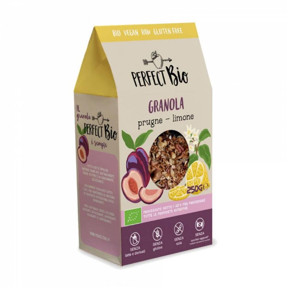 Гранола без глютена с черносливом и лимоном, Perfect Bio, 250 гр