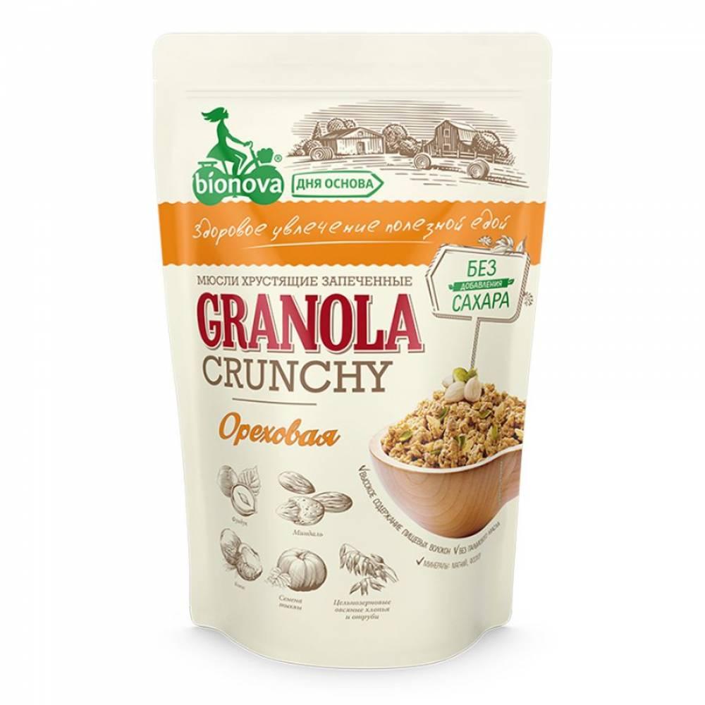 Гранола ореховая без сахара Бианова, 400 гр