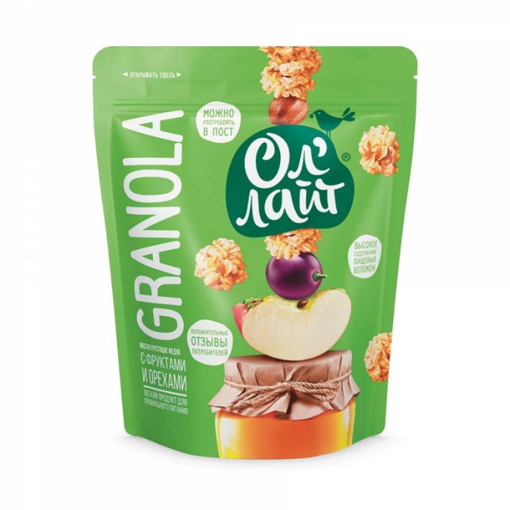 Гранола ОлЛайт с фруктами и орехами, 280 гр
