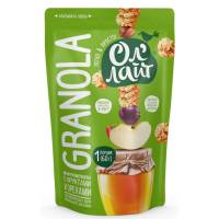 Гранола ОлЛайт с фруктами и орехами, 60 гр