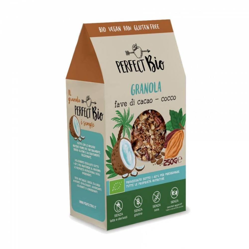Гранола без глютена с какао и кокосом, Perfect Bio, 250 гр
