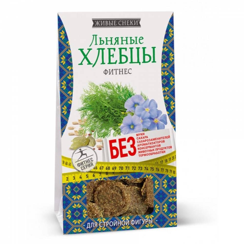 Льняные хлебцы фитнес Живые снеки, 50 гр