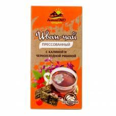 Иван-чай с калиной и черноплодной рябиной, прессованный, АлтайЭкоПродукт, 50 гр