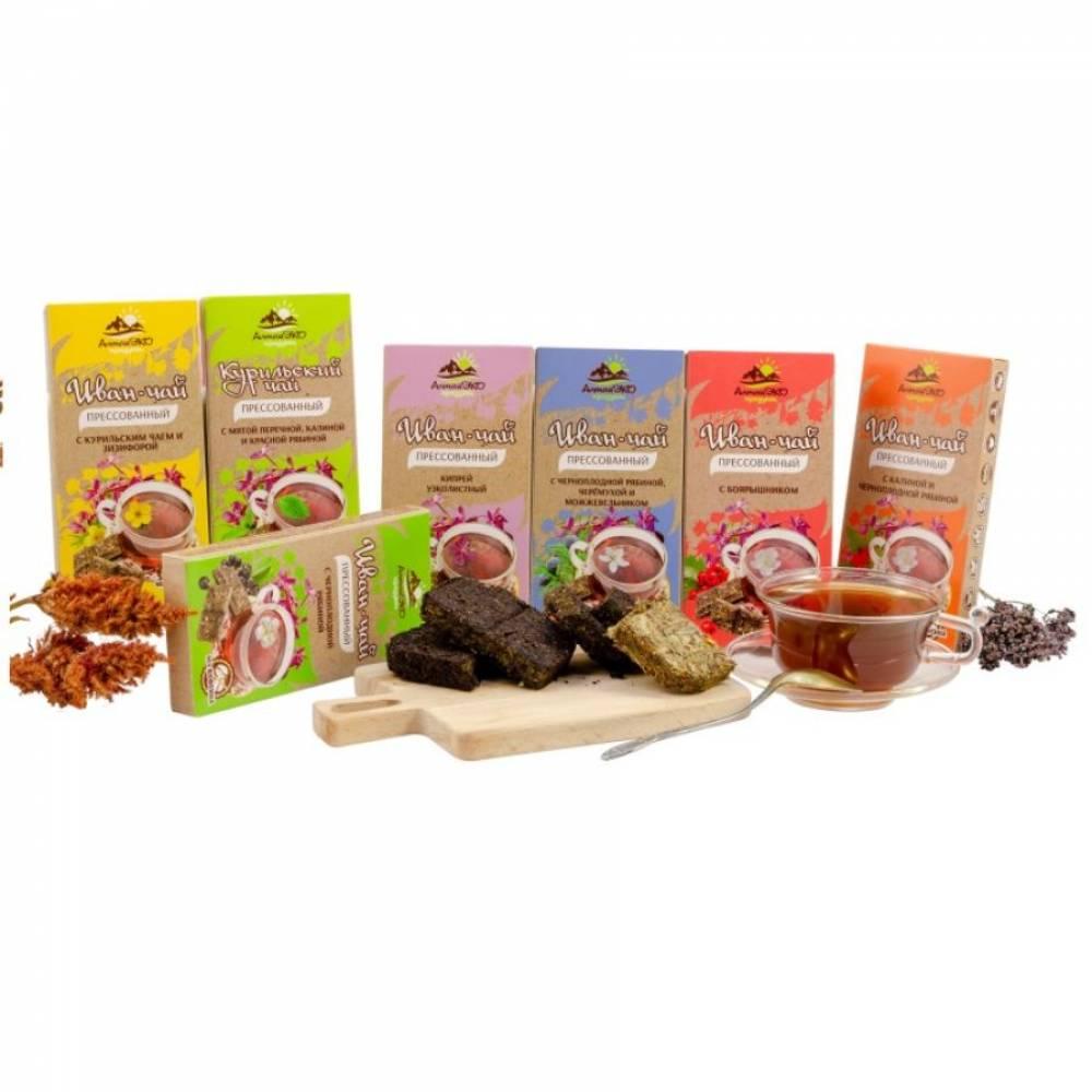 Иван-чай с курильским чаем и зизифорой, прессованный, АлтайЭкоПродукт, 50 гр