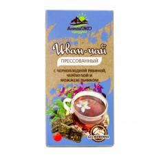 Иван-чай с черноплодной рябиной, черемухой и можжевельником, прессованный, АлтайЭкоПродукт, 50 гр