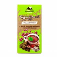 Курильский чай с мятой, калиной и рябиной, прессованный, АлтайЭкоПродукт, 50 гр