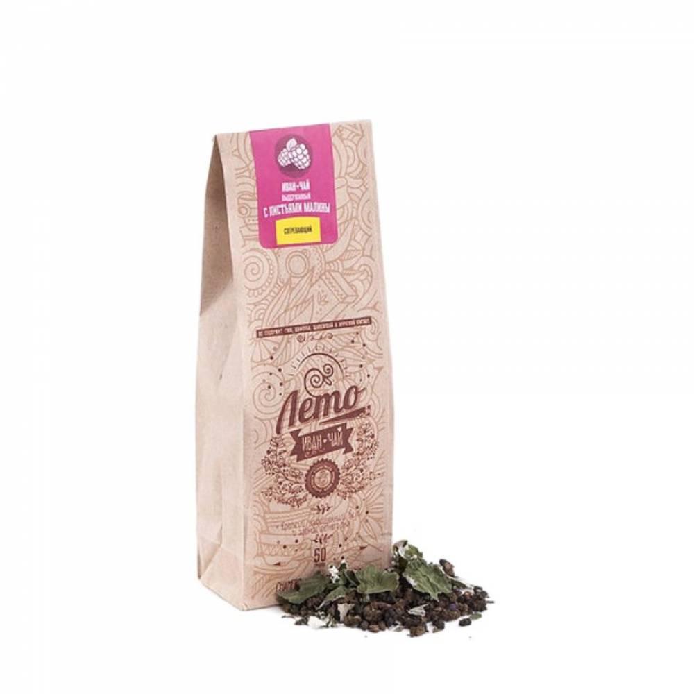 Иван-чай выдержанный с малиной 100% ручная работа ЛЕТОЧАЙ, 50 гр