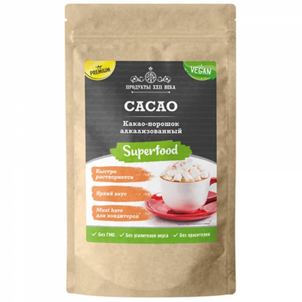 Какао порошок алкализованный премиум Продукты XXII века, 400 гр