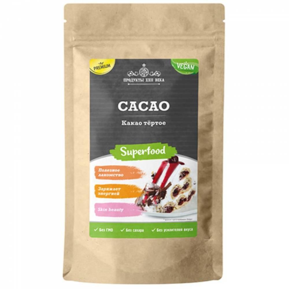 Какао тертое премиум Продукты XXII века, 200 гр
