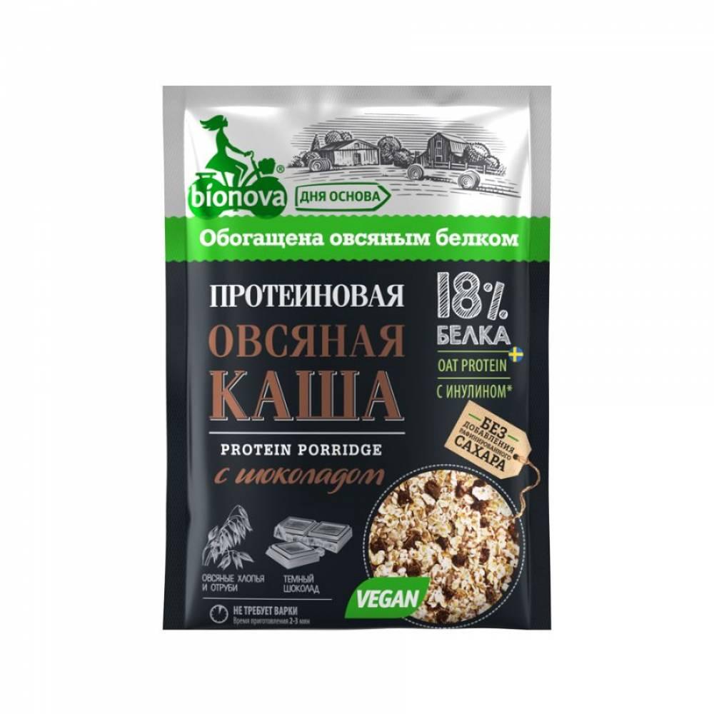 Овсяная каша быстрого приготовления Бионова, протеиновая с шоколадом, 40 гр