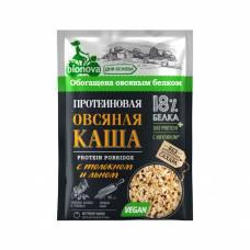 Овсяная каша быстрого приготовления Бионова, протеиновая с толокном и льном, 40 гр