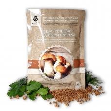 Каша гречневая с лесными грибами Алеокс с антиоксидантом из сибирской лиственницы, 43 гр