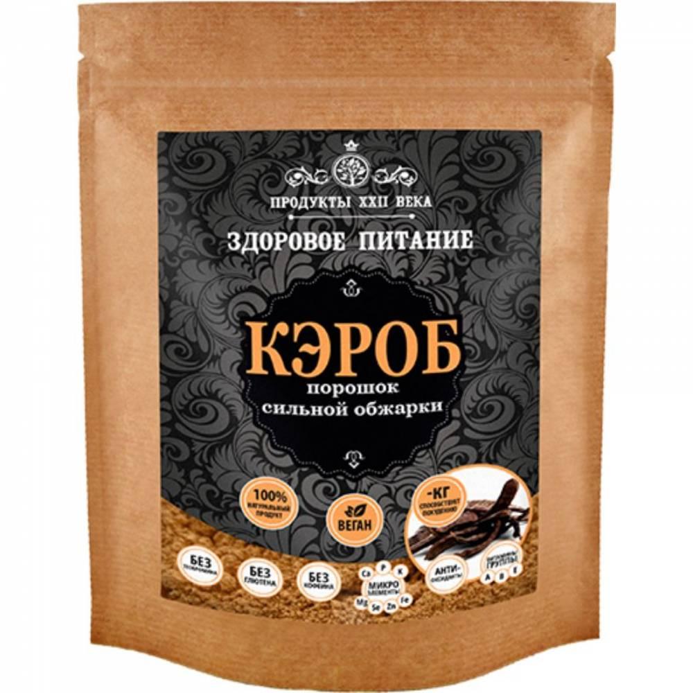Кэроб Продукты XXII века, молотый сильной обжарки, 400 гр