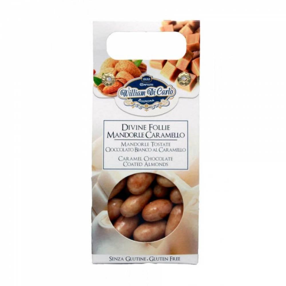 Конфеты без глютена Драже Миндаль в белом шоколаде, William di Carlo, 100 гр