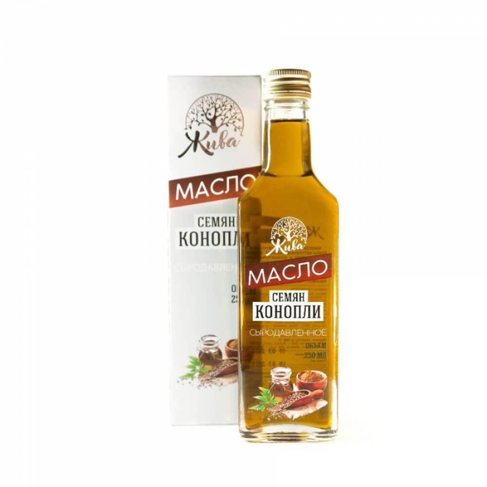 Конопляное масло сыродавленное Жива Сибири, 250 мл