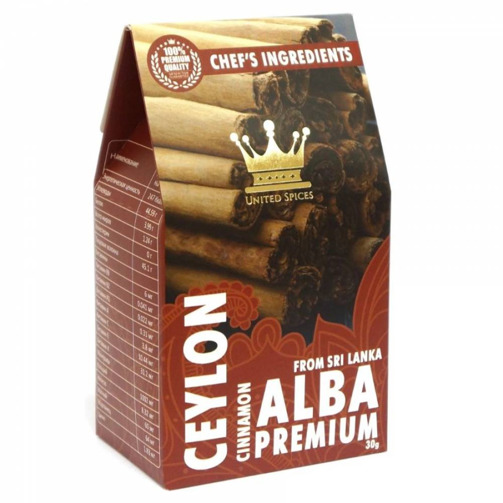 Цейлонская корица в палочках сорта ALBA United Spices, 30 гр