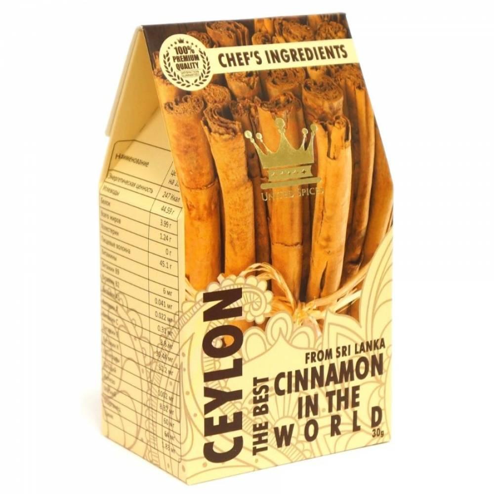 Цейлонская корица в палочках сорта 4С United Spices, 30 гр